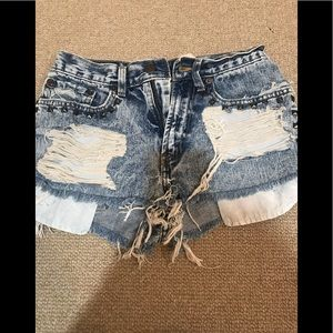 First of a kind redone Levi shorts size 26